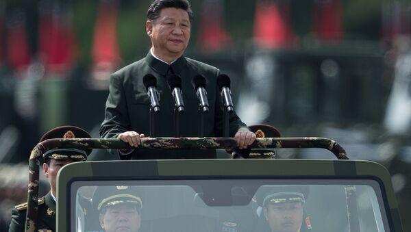 Przegląd wojsk odbył się w niedzielę w bazie wojskowej Zhurihe w prowincji Mongolia Wewnętrzna - Sputnik Polska