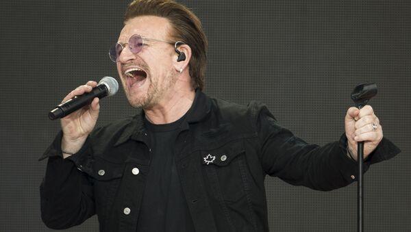 Lider irlandzkiego zespołu rockowego U2 Bono - Sputnik Polska