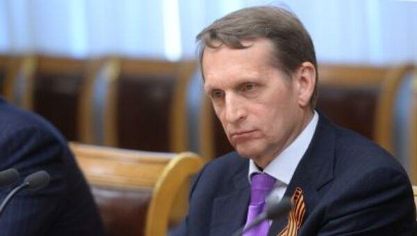 Przewodniczący Dumy Państwowej Rosji Siergiej Naryszkin - Sputnik Polska