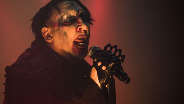 Marilyn Manson podczas koncertu w klubie Stadium Live w Moskwie - Sputnik Polska