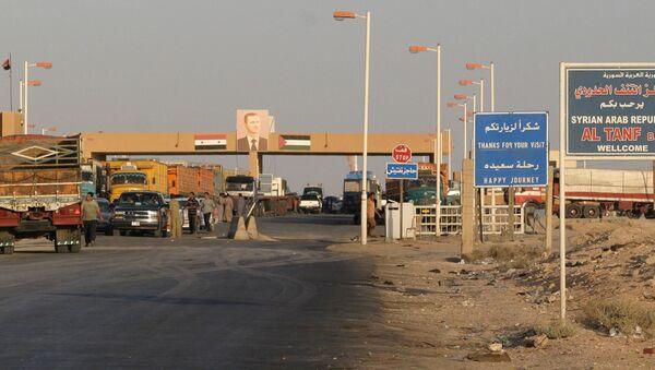 Przejście graniczne w rejonie At-Tanf na granicy Syrii i Iraku. Zdjęcie archiwalne - Sputnik Polska