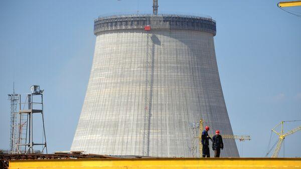 Budowa elektrowni jądrowej w pobliżu miasta Ostrowiec, Białoruś - Sputnik Polska