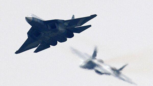Rosyjski myśliwiec piątej generacji T-50 - Sputnik Polska