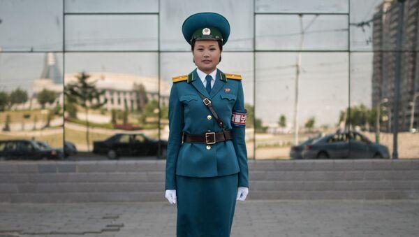 Oficer służby drogowej, Pjongjang - Sputnik Polska