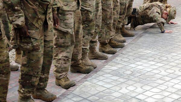 Amerykańscy wojskowi w Kabulu, Afganistan - Sputnik Polska