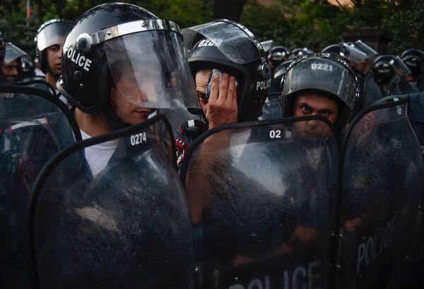 Akcja protestacyjna w Erywaniu - Sputnik Polska