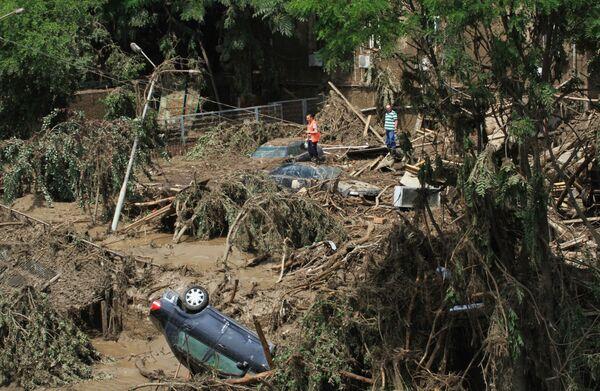 Skutki powodzi w Tbilisi - Sputnik Polska