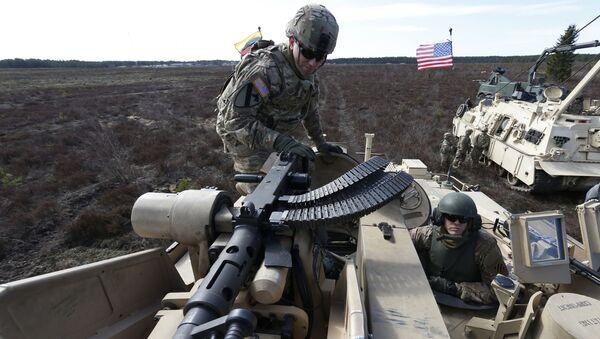 Żołnierze armii USA na szkoleniach na Litwie - Sputnik Polska