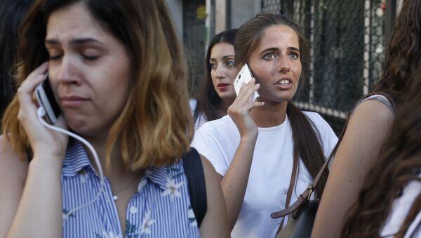 Barcelona po zamachu terrorystycznym - Sputnik Polska