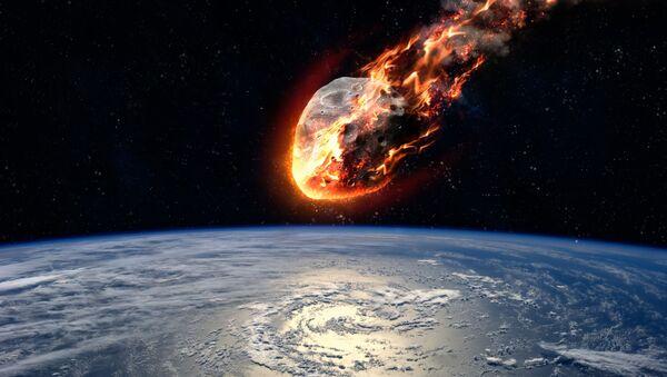 Meteoryt płonący w atmosferze Ziemi - Sputnik Polska