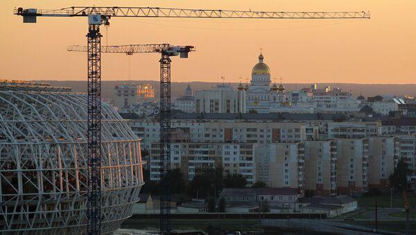 Stadion Mordowia Arena w Sarańsku w trakcie budowy - Sputnik Polska
