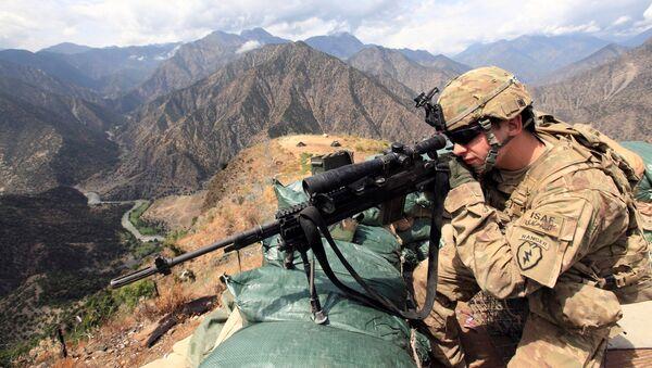 Lejtnant amerykańskiej armii w Afganistanie - Sputnik Polska