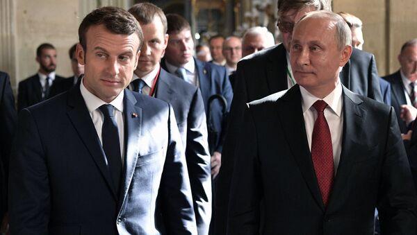 Spotkanie prezydentów Rosji i Francji w Wersalu - Sputnik Polska