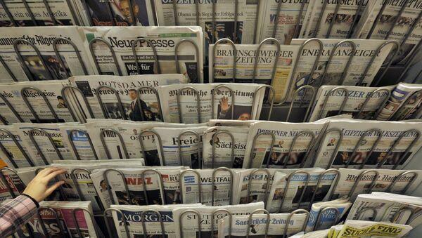 Kiosk z gazetami w Berlinie - Sputnik Polska