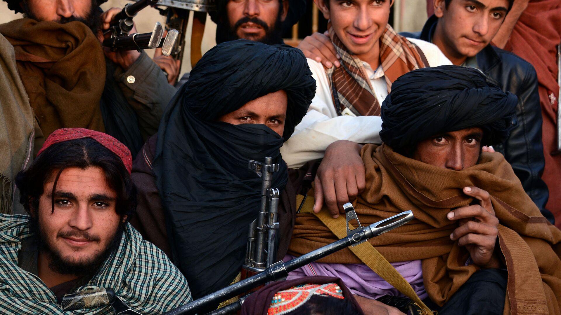 Członkowie organizacji Taliban w prowincji Farah, Afganistan. Zdjęcie archiwalne - Sputnik Polska, 1920, 24.09.2021