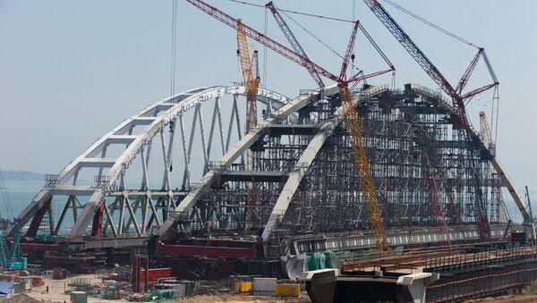 Budowa Mostu Kerczeńskiego - Sputnik Polska