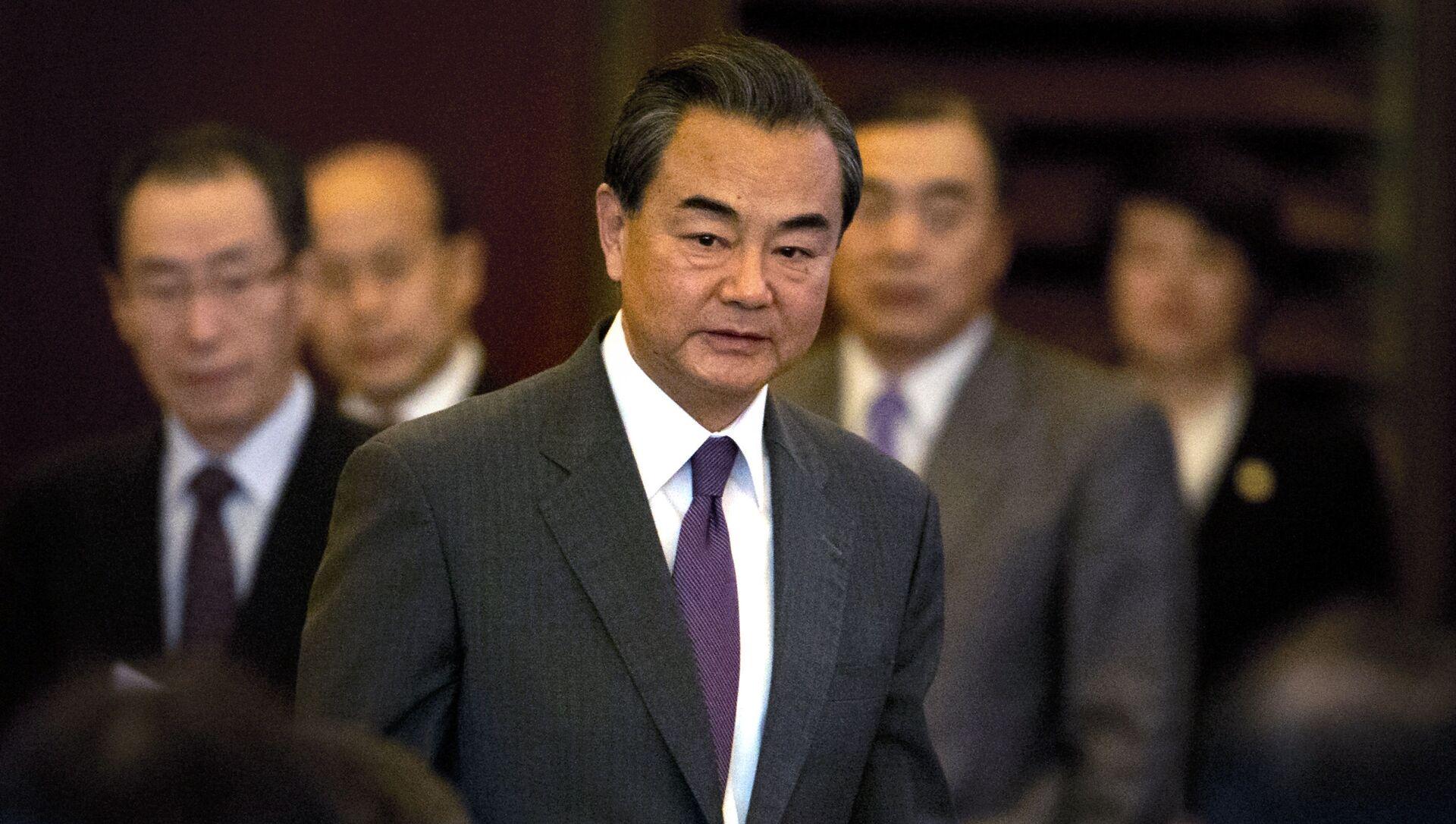 szef MSZ ChRL Wan Yi na uroczystości poświęconej 10-leciu podpisania wspólnego oświadczenia o zasadach denuklearyzacji Półwyspu Koreańskiego  - Sputnik Polska, 1920, 23.03.2021