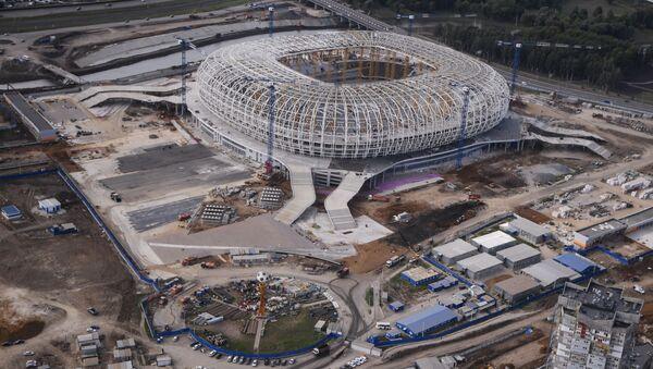 Budowa stadionu Mordowia Arena w Sarańsku - Sputnik Polska