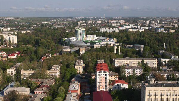 Widok z helikoptera na park im. Gagarina w Symferopolu - Sputnik Polska
