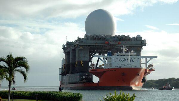 Pływający radar pasma X w Pearl Harbour - Sputnik Polska