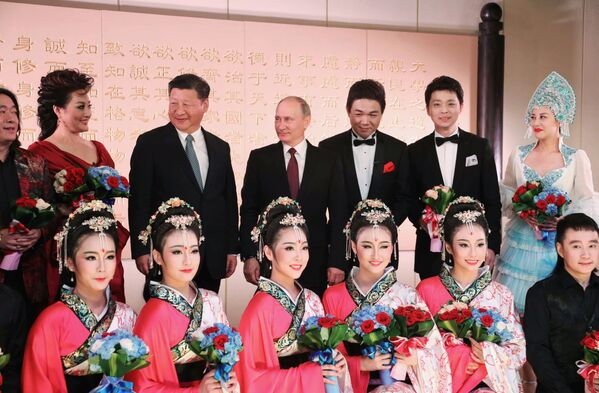 Władimir Putin i Xi Jinping na koncercie w Xiamenie - Sputnik Polska
