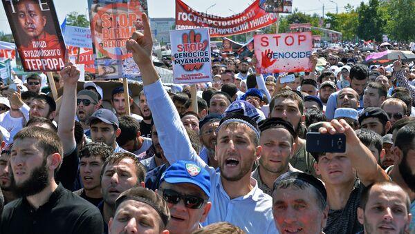 Grozny: Milion ludzi wyszło na ulice - Sputnik Polska