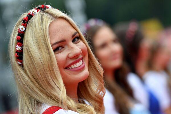 Hostessa podczas Grand Prix w Austrii - Sputnik Polska