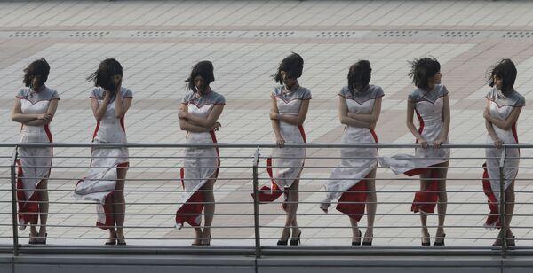 Hostessy podczas Grand Prix w Szanghaju, Chiny - Sputnik Polska