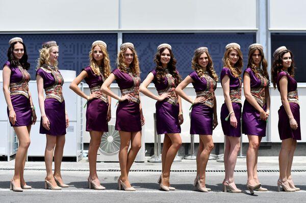 Hostessy podczas Grand Prix w Azerbejdżanie - Sputnik Polska