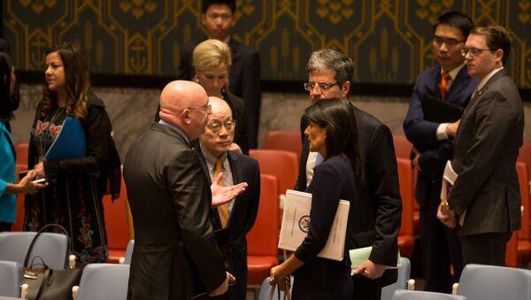 Stali przedstawiciele Rosji, Chin, Francji i USA na posiedzeniu Rady Bezpieczeństwa ONZ - Sputnik Polska