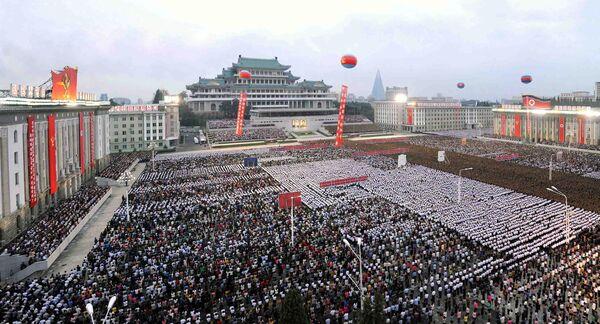 Mieszkańcy Pyongyangu świętują z okazji udanego testu bomby wodorowej w Korei Północnej - Sputnik Polska