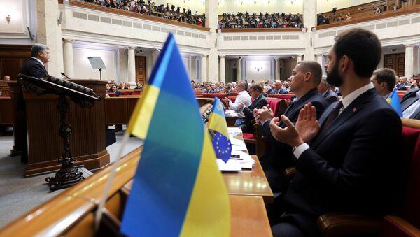 Posiedzenie Rady Najwyższej Ukrainy w Kijowie - Sputnik Polska