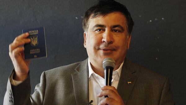 Były prezydent Gruzji Michaił Saakaszwili z ukraińskim paszportem - Sputnik Polska