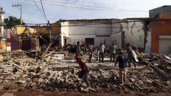 Potężne trzęsienie ziemi w Meksyku - Sputnik Polska