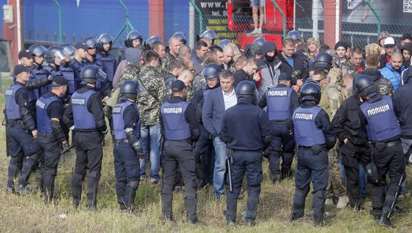 Na granicy z Polską doszło do starć między zwolennikami i przeciwnikami Michaiła Saakaszwilego - Sputnik Polska