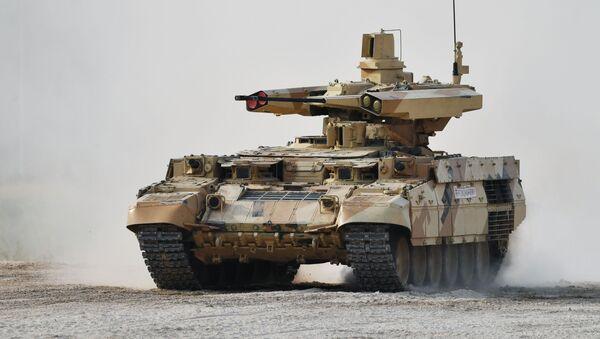 Rosyjski ciężki wóz bojowy wsparcia czołgów BMPT - Sputnik Polska