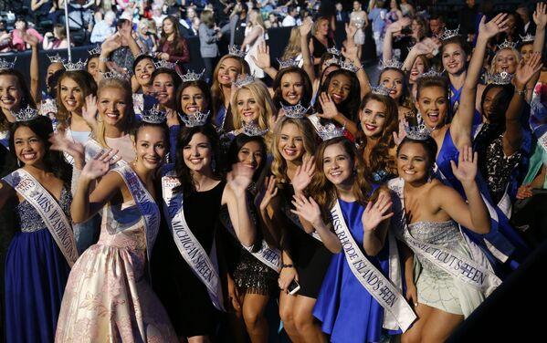 Uczestniczki konkursu piękności Miss America 2018 - Sputnik Polska