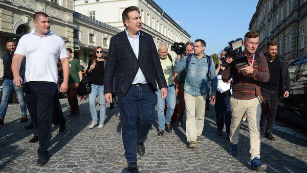 Były prezydent Gruzji Michaił Saakaszwili w Przemyślu - Sputnik Polska