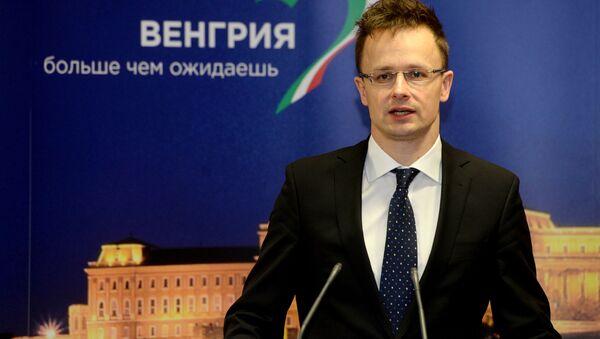Szef MSZ Węgier Peter Szijjarto na otwarciu konsulatu generalnego Węgier w Kazaniu - Sputnik Polska