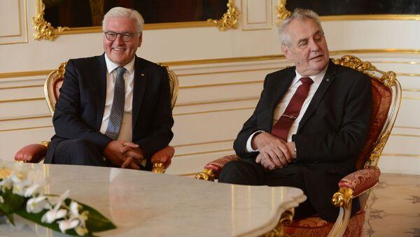 Prezydent Niemiec Frank-Walter Steinmeier i prezydent Czech Milos Zeman - Sputnik Polska