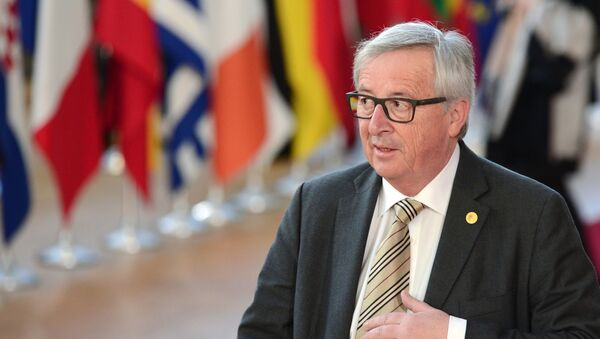 Przewodniczący Komisji Europejskiej Jean-Claude Juncker w Brukseli - Sputnik Polska