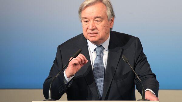 Sekretarz generalny ONZ Antonio Guterres. Zdjęcie archiwalne - Sputnik Polska