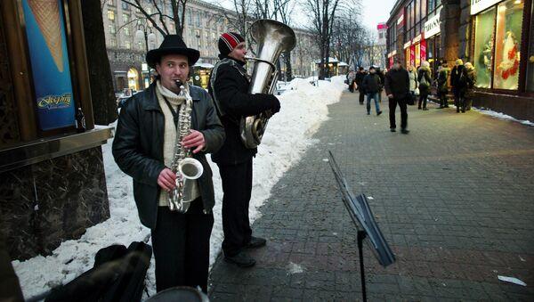 Ulica Chreszczatyk w Kijowie - Sputnik Polska