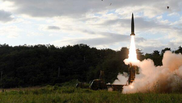 Start południowokoreańskiego pocisku balistycznego Hyunmoo-2 - Sputnik Polska