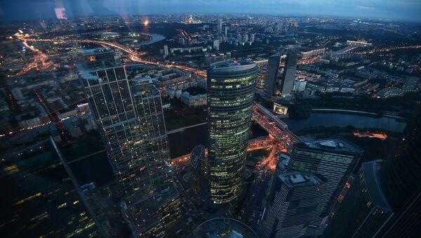Widok z 89 piętra Wieży Federacja Wschód centrum biznesowego Moskwa-City, gdzie budowana jest najwyższa platforma widokowa w Europie - Sputnik Polska