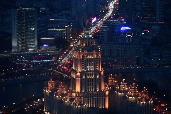 """Widok z 89 piętra Wieży Federacja Wschód centrum biznesowego """"Moskwa-City"""", gdzie budowana jest najwyższa platforma widokowa w Europie - Sputnik Polska"""