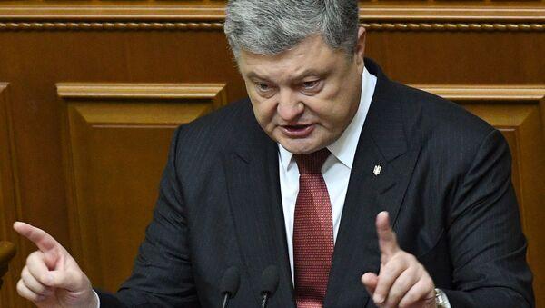 Prezydent Ukrainy Petro Poroszenko podczas wystąpienia na posiedzeniu Rady Najwyższej Ukrainy w Kijowie - Sputnik Polska