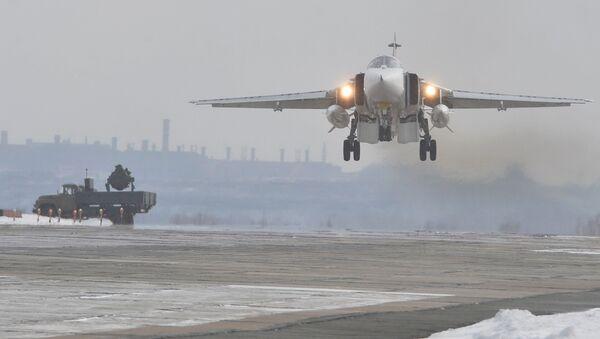 Samolot bombowy Su-24M Sił Powietrzno-Kosmicznych Rosji - Sputnik Polska