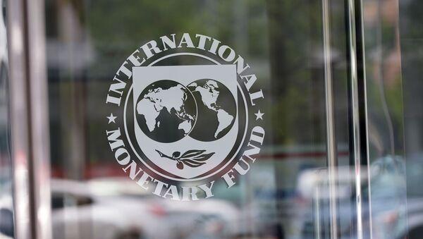 Logo Międzynarodowego Funduszu Walutowego w Waszyngtonie - Sputnik Polska