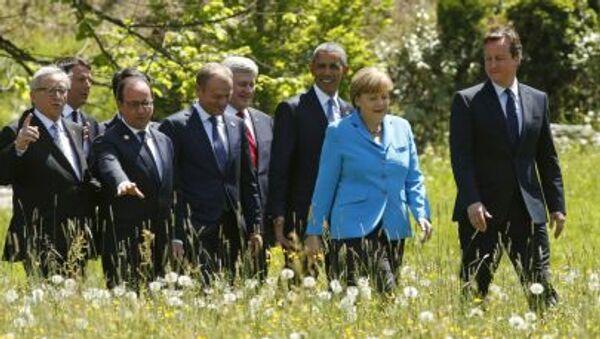 Uczestnicy szczytu G7 - Sputnik Polska